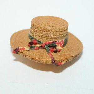Vtg Straw Hat Brooch PEI